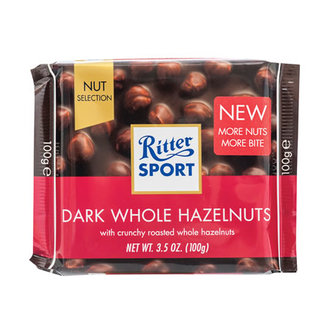 Ritter Sport Dark Whole Hazelnut 100 G