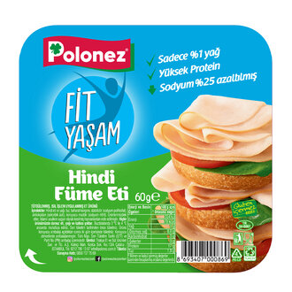 Polonez Fit Yaşam Hindi Füme 10 Dilim 60 G