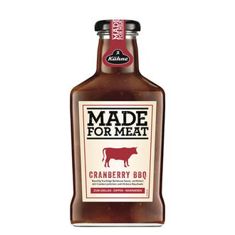 Kühne Made For Meat Cranberry Bbq Sos 375 Ml