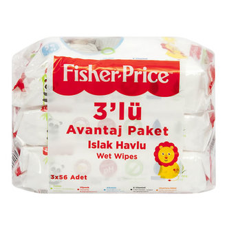 Fisher Price Islak Havlu 3X56 Adet