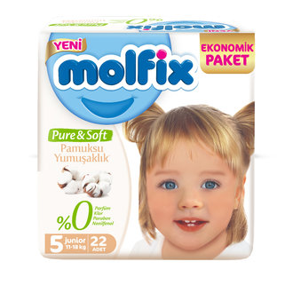 Molfix Pure & Soft Junior 5 No 11-18 Kg 22'li