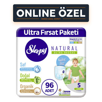 Sleepy Natural Külot Bez 5 No Junior 11-18 Kg 96'lı