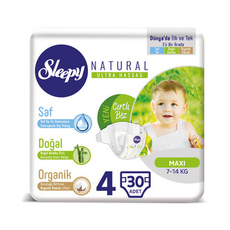Sleepy Natural Jumbo Tekli 4 No Maxi 30'lu