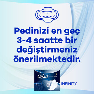 Orkid Infinity Hijyenik Ped Gece 10 Ped