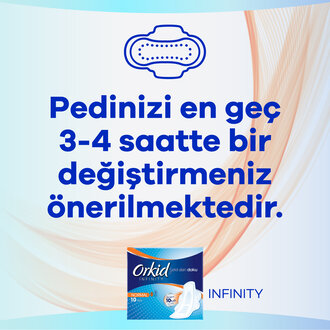 Orkid Infinity Hijyenik Ped Normal 10 Ped