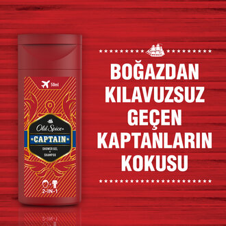 Old Spice Captain Shower Jel + Shampoo 50 Ml