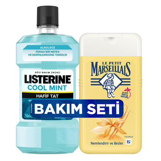 Le Petit Marseillais Vanilya 250Ml+Listerine Coolmint 250Ml