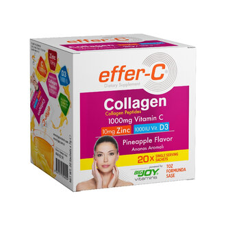 Effer-C Collagen Ananas Aromalı 20 Şase