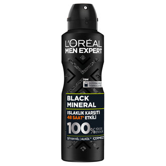 L'Oreal Paris Men Black Mineral Sprey Deodorant 150Ml