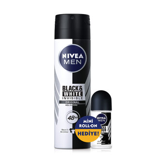 Nivea Men Black&White Invisible Deo 150 Ml + Roll-On