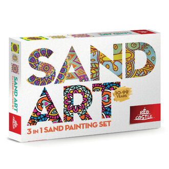 Red Castle Sand Art 3 In 1 Sand Painting Set