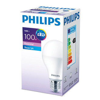 Philips Essential Led Ampul 14-100W Beyaz E27 Normal Duy