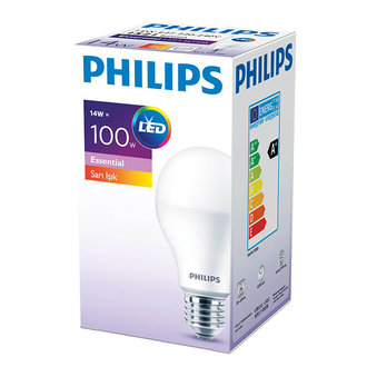 Philips Essential Led Ampul 14-100W Sarı E27 Normal Duy