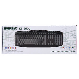 Everest Kb-250u Sıyah Usb Q Multımedıa Klavye